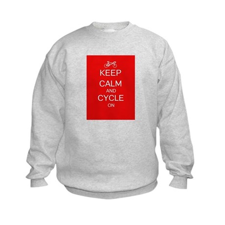 Keep Calm And Cycle On Kids Sweatshirt