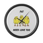 Fat Chicks Large Wall Clock