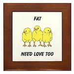 Fat Chicks Framed Tile
