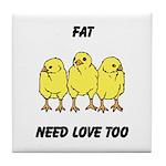 Fat Chicks Tile Coaster