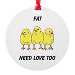 Fat Chicks Round Ornament