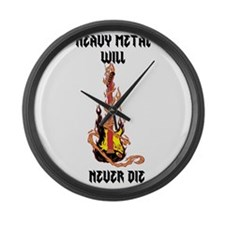 Heavy Metal Large Wall Clock