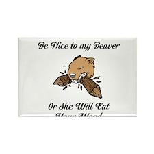 Beaver Rectangle Magnet