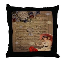 Music Time Throw Pillow
