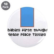 """Baby food 3.5"""" Button (10 pack)"""