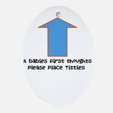 Baby food Ornament (Oval)
