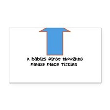 Baby food Rectangle Car Magnet