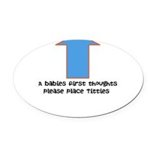 Baby food Oval Car Magnet