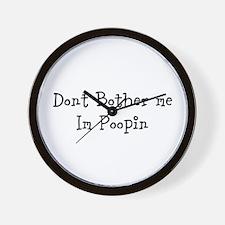 Poopin Wall Clock