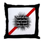 Banded Frustration Throw Pillow