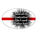 Banded Frustration Oval Sticker