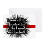 Banded Frustration Greeting Cards (Pk of 10)