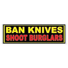SHOOT BURGLARS Bumper Sticker