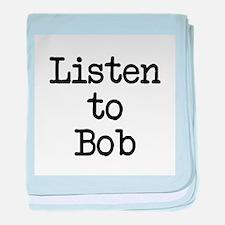 Listen to Bob baby blanket