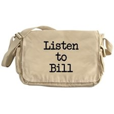 Listen to Bill Messenger Bag