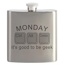 Monday Geek Computer Keys Flask