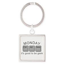 Monday Geek Computer Keys Square Keychain