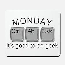 Monday Geek Computer Keys Mousepad