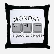 Monday Geek Computer Keys Throw Pillow