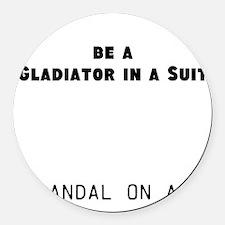 Gladiator#1 Round Car Magnet