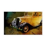 Classic Yellow Antique Roadster Car Magnet