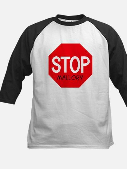 Stop Mallory Kids Baseball Jersey