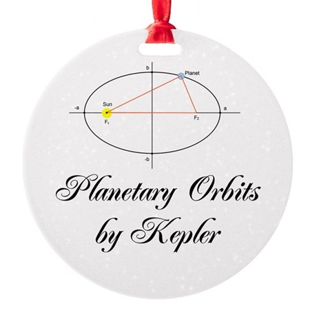 Planetary Orbits Round Ornament