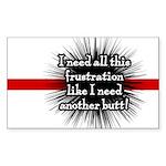 Banded Frustration Rectangle Sticker