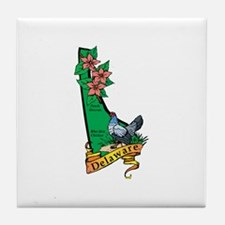 Delaware Map V Tile Coaster