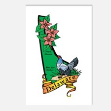 Delaware Map V Postcards (Package of 8)