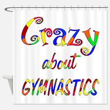 Crazy About Gymnastics Shower Curtain