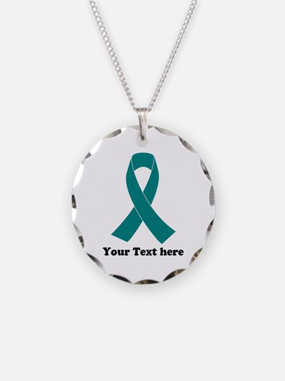 Teal Ribbon Awareness Necklace
