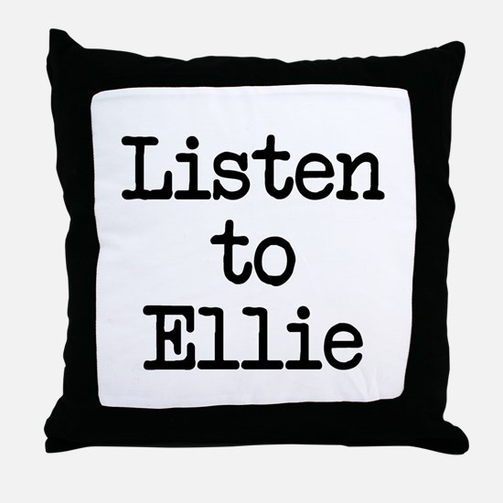 Listen to Ellie Throw Pillow