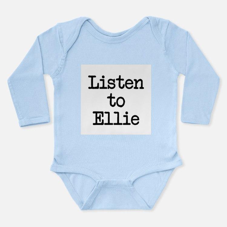 Listen to Ellie Long Sleeve Infant Bodysuit