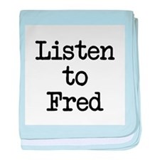 Listen to Fred baby blanket