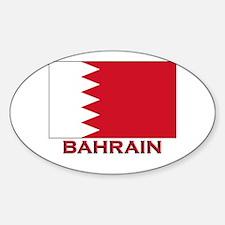 Bahrain Flag Merchandise Oval Decal