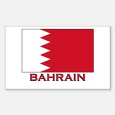 Bahrain Flag Merchandise Rectangle Decal