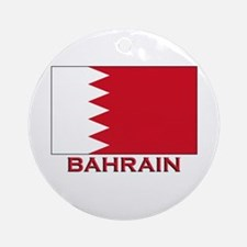 Bahrain Flag Merchandise Ornament (Round)