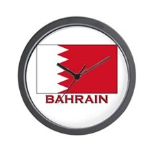 Bahrain Flag Merchandise Wall Clock