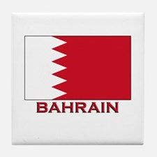 Bahrain Flag Merchandise Tile Coaster