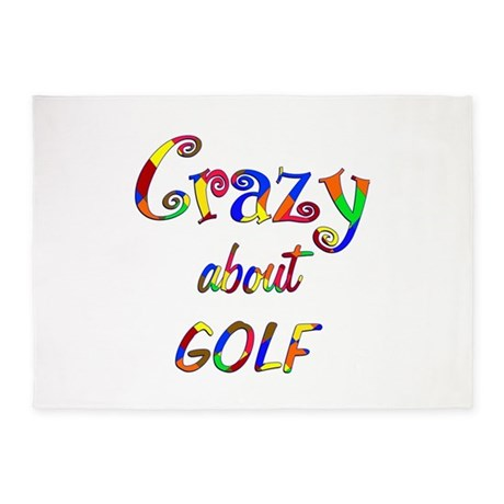 Crazy About Golf 5'x7'Area Rug
