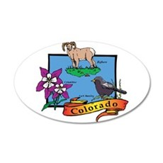 Colorado Map H Wall Decal