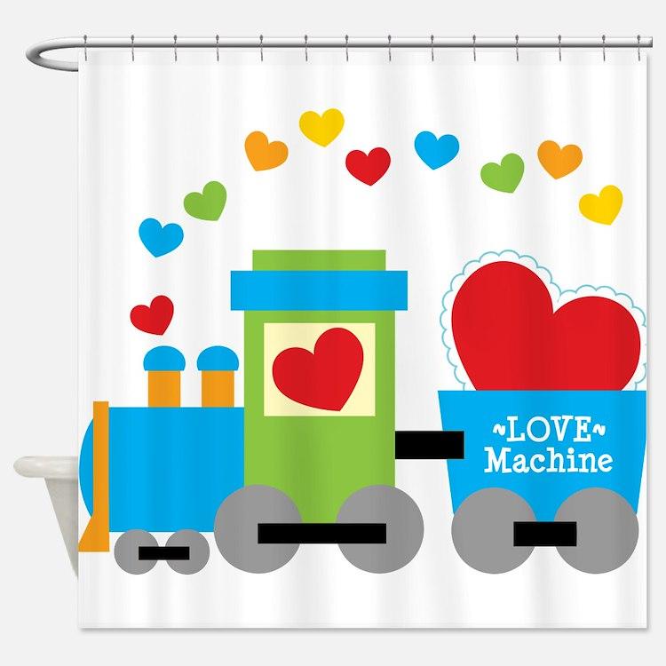 Valentine Train Shower Curtain. Choo Choo Train Bathroom Accessories  amp  Decor   CafePress