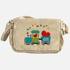 Valentine Train Messenger Bag
