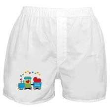 Valentine Train Boxer Shorts