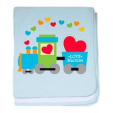 Valentine Train baby blanket