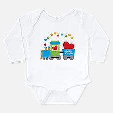 Valentine Train Long Sleeve Infant Bodysuit