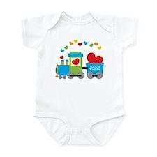 Valentine Train Infant Bodysuit