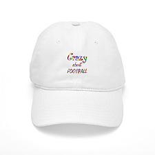 Crazy About Football Baseball Cap