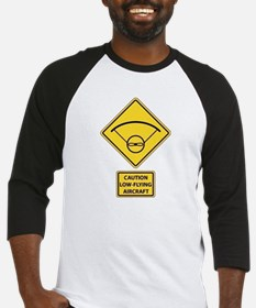 Caution Low Flying Aircraft Baseball Jersey